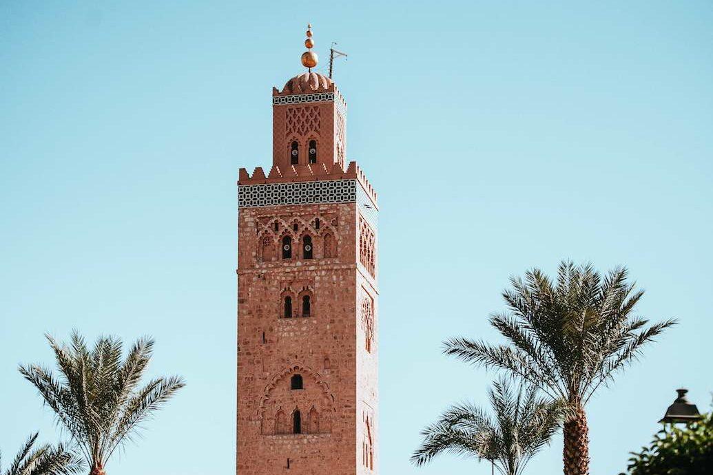Minaret Marrakech - Groepsreis Rondreis Marokko 2021   Esperanto Travel - Reisbureau Nieuwpoort