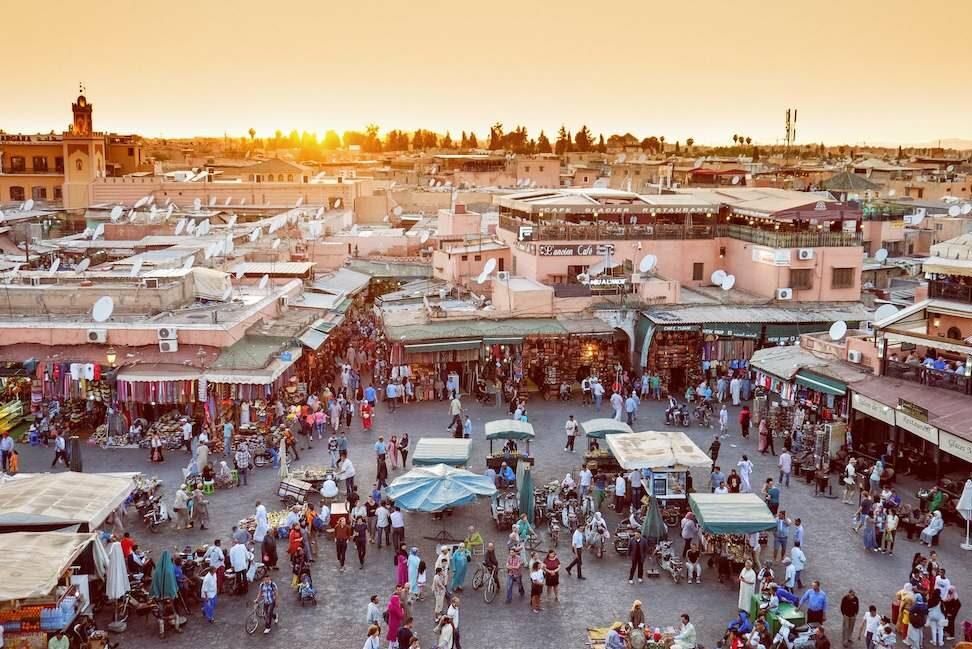 Djemaa el Fna Marrakech - Groepsreis Rondreis Marokko 2021   Esperanto Travel - Reisbureau Nieuwpoort